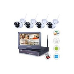 KIT 4 CAMERA NVR WIFI +...